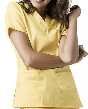 yellow scrubs