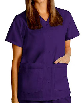 purple scrubs