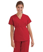 red scrubs