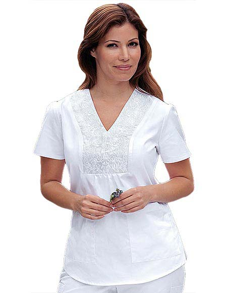 Buy Barco Prima Women Embroidered V Neck White Nursing