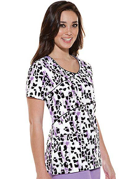 Buy Baby Phat Womens Asymmetrical Go Cat Go Printed Scrub