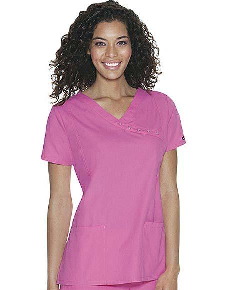 Buy Baby Phat Womens Two Pocket Mock Wrap Nurse Scrub Top