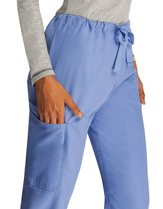 Adar Universal Unisex Natural-Rise Five Pocket Drawstring Tapered Leg Pants-AD-2513