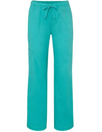 Adar Pop-Stretch Women's Junior Fit Mid Rise Straight Leg Drawstring Cargo Pants-AD-3106