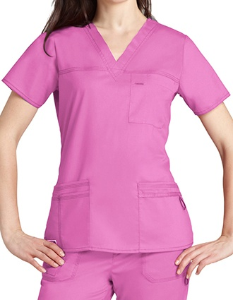 Adar Pop-Stretch Junior Fit TaskWear Scrub Top-AD-3202