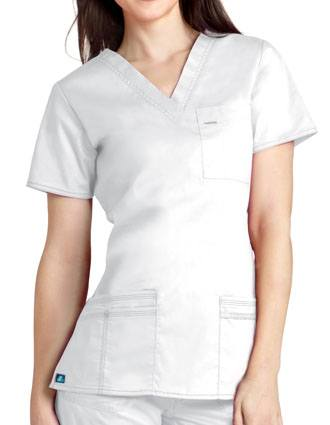 Adar Women Junior Fit TaskWear V-Neck Scrub Top-AD-3212