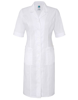 Adar Pop-Stretch Women's Junior Fit Short Sleeve Back-Smocked Dress