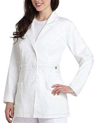 Adar Pop-Stretch Junior Fit Women's 28 Inch Tab-Waist Lab Coat-AD-3300