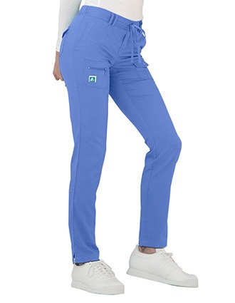 Adar Indulgence Women's Jr. Fit Low Rise Tapered Leg 6 Pocket Drawstring Pants-AD-4100