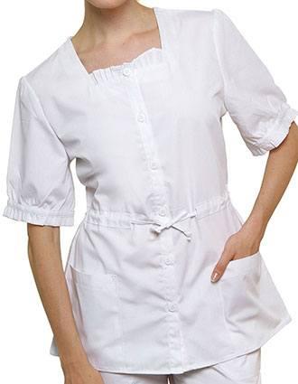 Adar Women Two Pockets Square Neck Medical Uniform