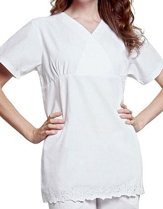 Adar Women Two Pocket Empire Cut Tunic Uniform Scrubs-AD-622