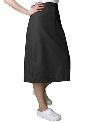 Adar Two Pocket Mid-Calf Length Nurse Skirt-AD-706