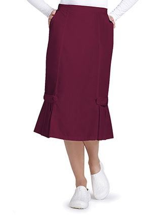 Adar Universal Women's Tabbed Pleat Panel Skirt