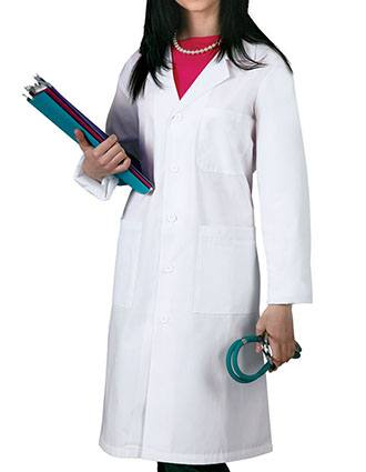 Adar Unisex 40 Inch Multi Pocket Midriff Back Lab Coat-AD-808
