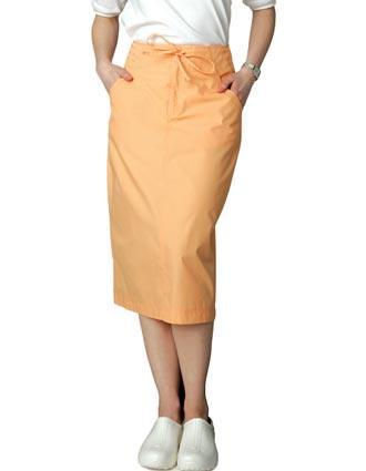 Clearance Sale Womens Mid-Calf Length Drawstring Nurse Skirt by Adar