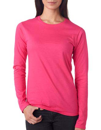 Anvil Ladies' Lightweight Junior Fit Long-Sleeve Cotton Tee-AN-374L