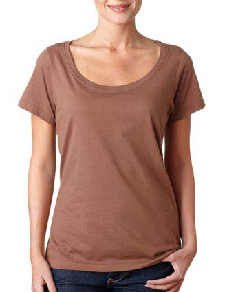 391 Anvil Ladies' Sheer Scoop-Neck Tee-AN-391