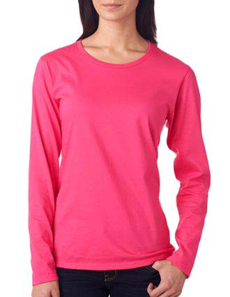 884L Anvil Ladies' Lightweight Long-Sleeve Cotton Tee-AN-884L
