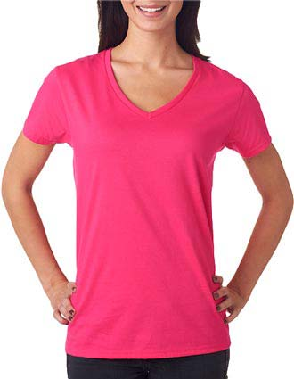 Anvil Ladies' Lightweight V-Neck Cotton Tee-AN-88VL
