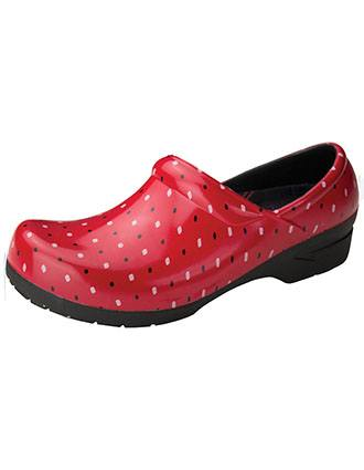 Anywear Women's Simple Squares Closed Back Plastic Clog