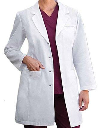 Barco Prima Women Stream Line Three Pocket 35 inch Long Lab Coat-BA-27172