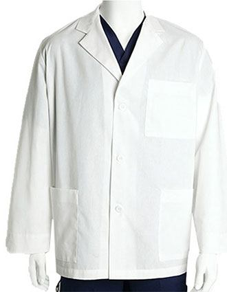Barco Prima Unisex Three Pocket 31 Inches Short Medical Lab Coat-BA-29115