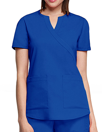 Barco NRG Junior Solid Two Pocket Mock Wrap Scrub Top-BA-3119