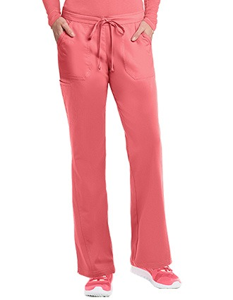 Barco NRG Women's 5-Pocket Embroidered Petite Scrub Pant