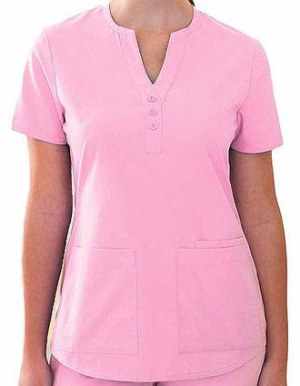 Barco ICU Junior Fit Mock Placket Y-Neck Scrub Top-BA-41232