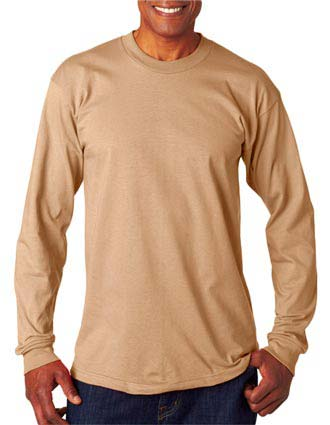6100 Bayside Adult Long-Sleeve Cotton Tee-BA-6100