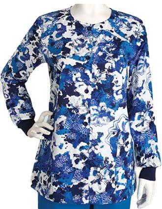 Barco Women's Kensie Two Pocket Round Neck WarmUp Scrub Jacket