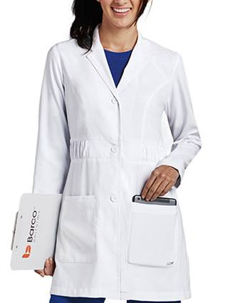 Barco KD110 Women's Kenzie Shirred Waist Fashion Labcoat