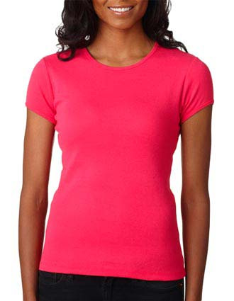 1001 Bella+Canvas Ladies' Baby Rib Short-Sleeve Crew Neck Tee-BE-1001