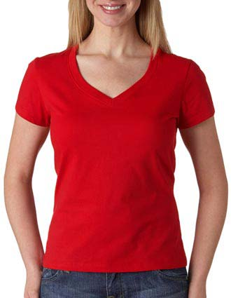 6005 Bella+Canvas Ladies' Short-Sleeve V-Neck Jersey Tee-BE-6005