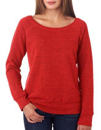 7501 Bella + Canvas Ladies' Sponge Fleece Wide Neck Sweatshirt-BE-7501