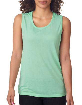 B8803 Bella + Canvas Ladies' Flowy Scoop Blended Muscle Tank-BE-B8803