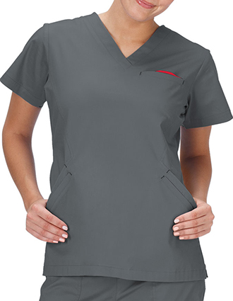 Bio Stretch Ladies Angle V-Neck Scrub Top