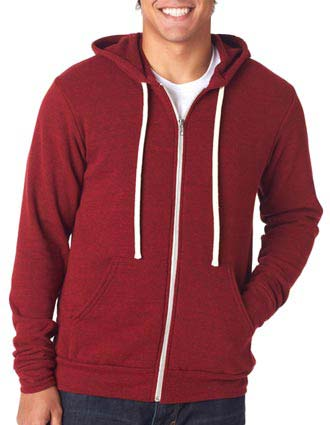 Bella+Canvas Unisex Tri-Blend Full-Zip Hoodie-CA-3909