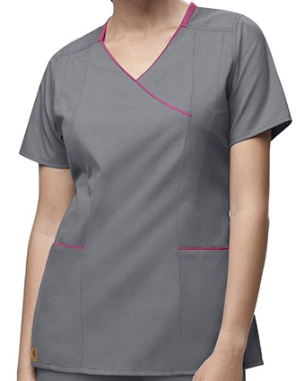 Carhartt Women Y-Neck Fashion Scrub Top-CA-C10301