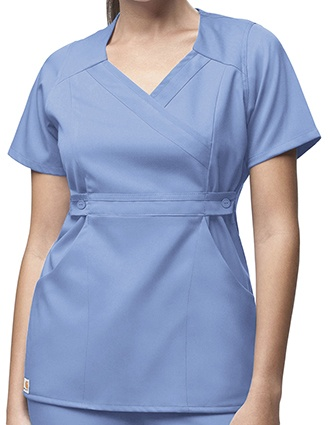 Carhartt Women 3-Pocket Mock-Wrap Scrub Top-CA-C11202