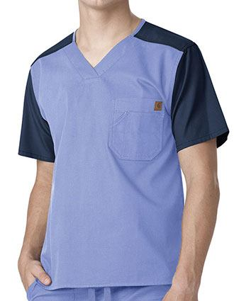 Carhartt Mens Color Block Nurse Scrub Utility Top-CA-C14108