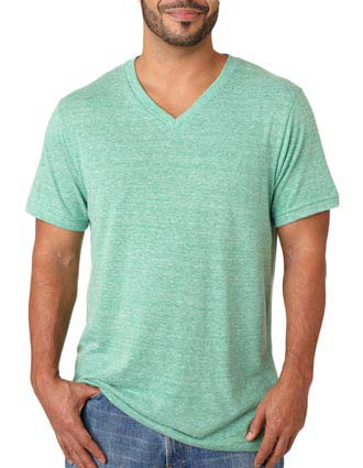 Bella+Canvas Men's Triblend V-Neck Tee-CA-C3415