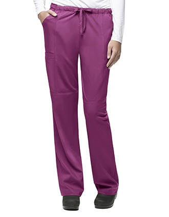 Carhartt Scrubs Women 4-Pocket Cargo Solid Nursing Pants-CA-C51102