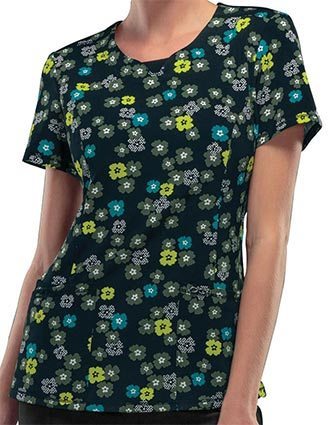 Certainty Woodland Fantasy Women's Round Neck Printed Top