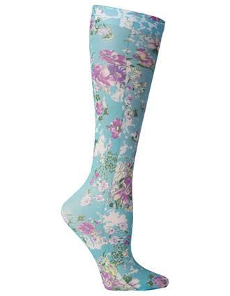 Celeste Stein Women's Knee High 8-15 mmHg Compression Turq Klara Hoisery-CE-CMPS1988