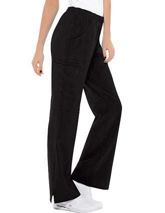 Cherokee Women Four-Pocket Mid-Rise Cargo Scrub Pants-CH-1013