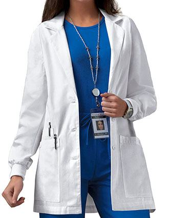 Cherokee Women Knit cuff 30 inch Short Medical Lab Coat-CH-1302