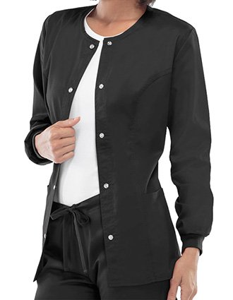 Cherokee Luxe Women Rayon Warm-Up Scrub Jacket-CH-1330