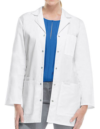 Cherokee Women 32 inch Three Pocket Snap Front Medical Lab Coat-CH-1369