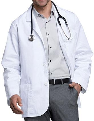 Cherokee Med Man Three Pocket 31 inch Short Consultation Lab Coat-CH-1389